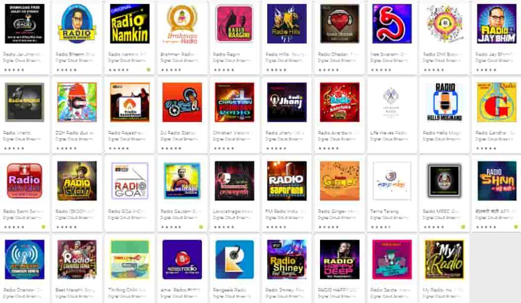 Riggro Digital Radio Application of the Google Play Store